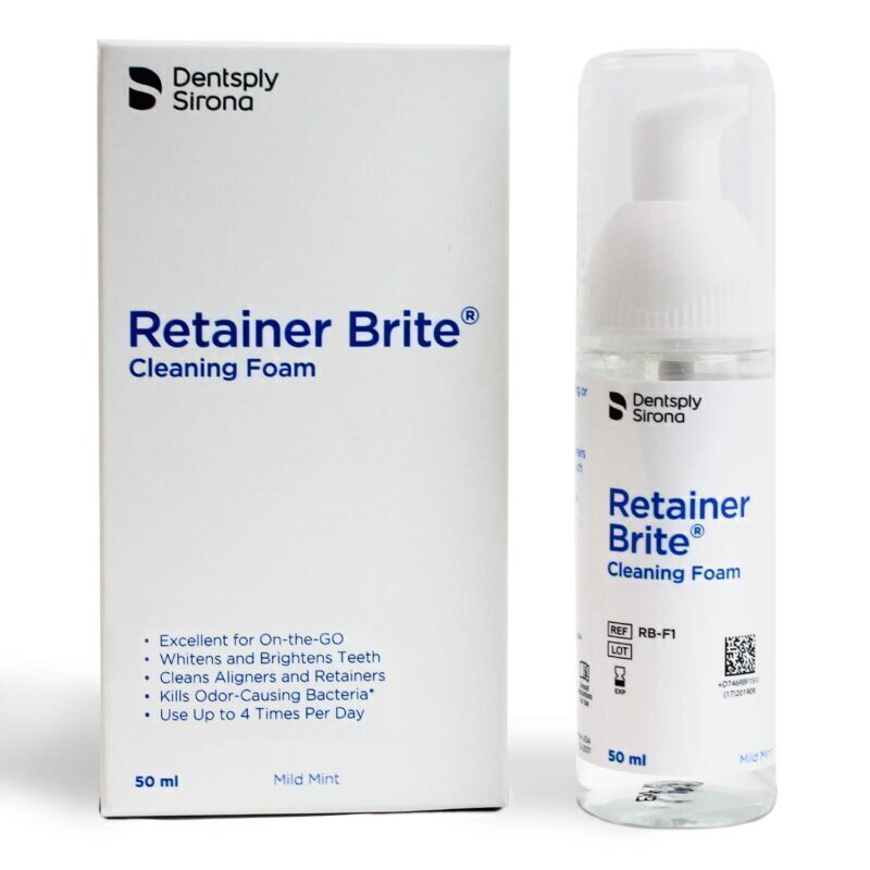 Retainer Brite Cleaning and Whitening Foam