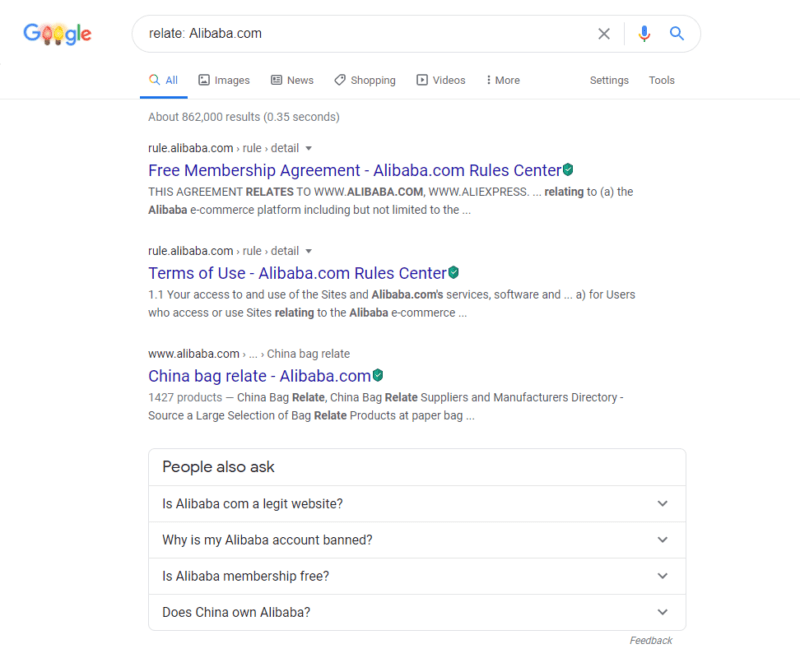 Searching similar or related websites