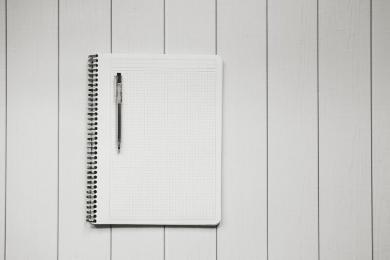Pen on a grid table book