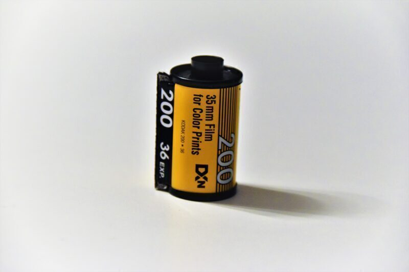 Color film of an old camera